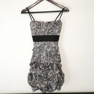 Ruby Rox Formal Dress Silver and Black